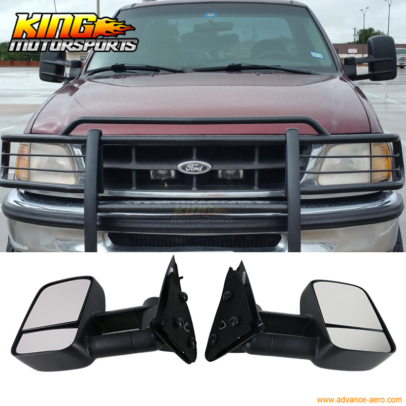 Fit For 97-04 Ford F150 F250 Side View Towing Tow Mirrors Manual Non-Heated Pair Set(China (Mainland))