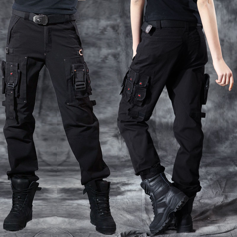 Popular Women39s Army Cargo Pants Straight Pants Trousers Fashion RED
