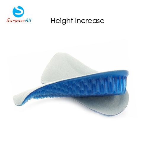 1 Pair Women/Men Honeycomb Gel 3CM Height Increase increasing Shoe Insoles Inserts Pads Cushion Heel Lifts(China (Mainland))