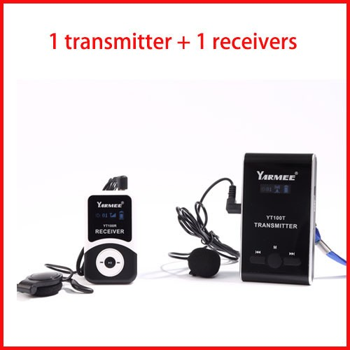 Professional Tour Guide System for Conference, Simultaneous Translation, Meeting, Museum Visiting 2 Transmitters 60 Receivers