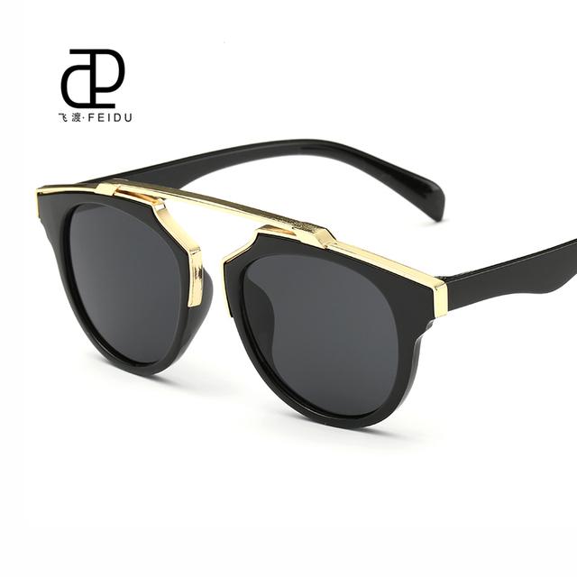 Feidu марка 2016 милые дети солнцезащитные очки дети пластиковые UV400 покрытия кошачий ...