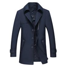 Spring 4xl Mens Long Trench Coat Slim Fit Men Overcoat Jacket Casual Trench Coat Man(China (Mainland))