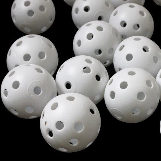 100 golf ball plastic practice balls airflow ball golf white(China (Mainland))