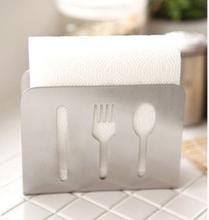 Modern Style Stainless Steel Towel Rack Napkin Box Tissue Holder Home Decor(China (Mainland))