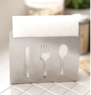 Ikea Style Stainless Steel Towel Rack Napkin Box Tissue Holder Home Decor(China (Mainland))