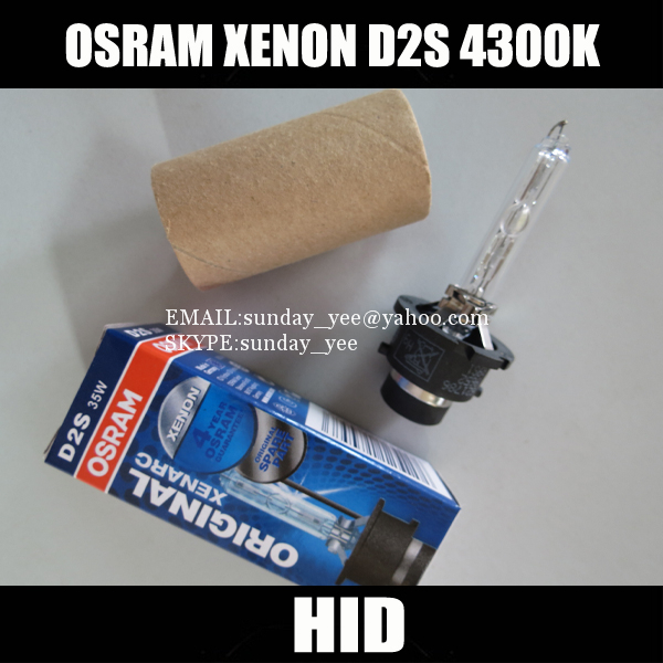 Free Shipping 2 Pieces 100% High Quality OEM OSRAM 66240 HID XENON D2S 4300K 35W 12V HID BULB Car Headlights Light Lighting Lamp(China (Mainland))