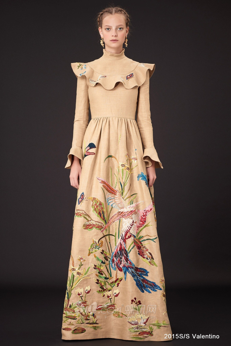 High quality 2014 fashion designer runway maxi dress women for High couture clothing