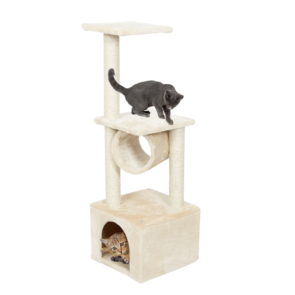 Domestic Delivery H110cm Cat Toy Kitten House Scratching Post Wood Climbing Cat Tree Pet Home Cat Luxury Jumping Frame Furniture(China (Mainland))