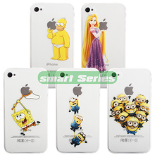 Fashion Grind Arenaceous Hard Cases For iPhone 4 4S Shell The Simpsons Minions Hands Grasp the Logo cellPhone Back Cover Case