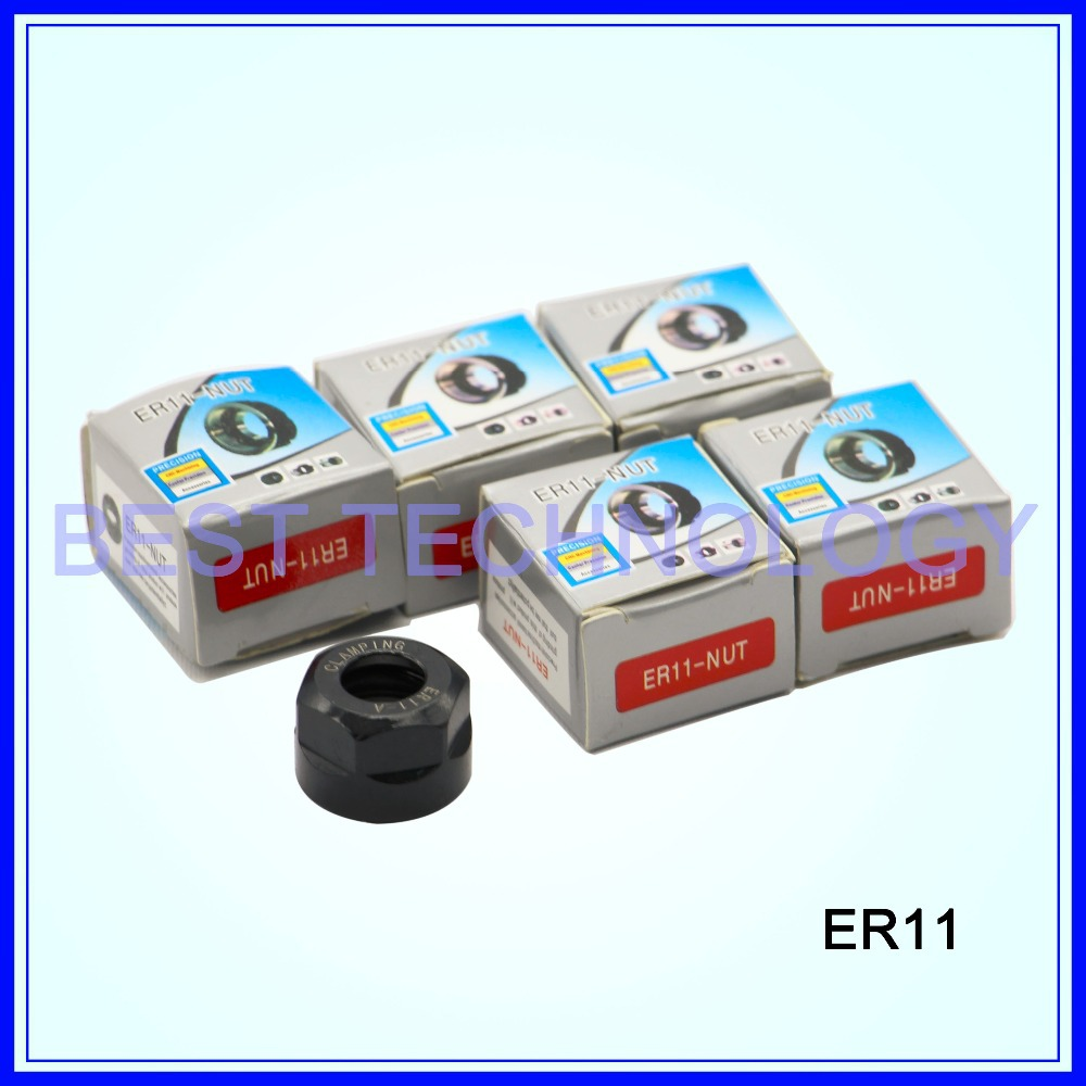 5pcs ER11 -A collet nut for cnc engraving spindle motor / ER11 collet chuck CNC spindle nut Clamping(China (Mainland))