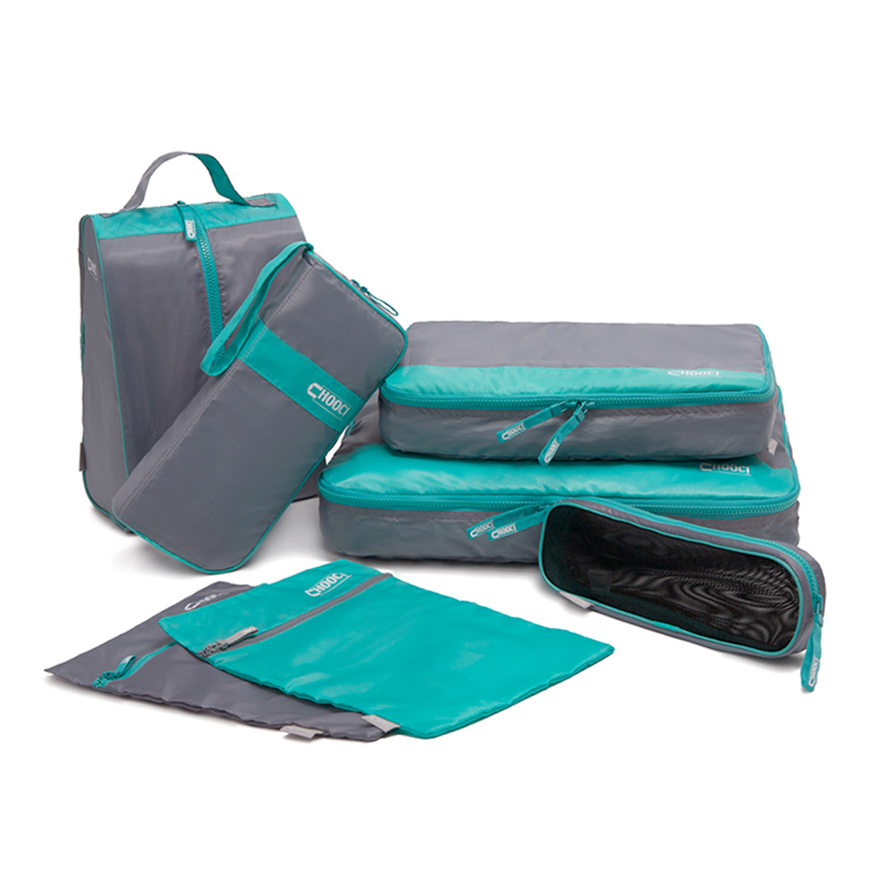 CHOOCI Polyster Fashion Portable Practical Storage Bags Set for Traveling and Business Travel Bag System - 7 Pieces(China (Mainland))