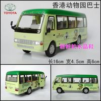 In alloy car model toy car acoustooptical WARRIOR bus TOYOTA coaster bus