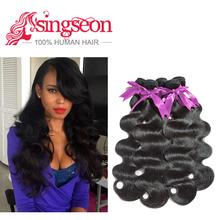 peerless virgin hair prendedor de cabelos para as mulheres body wave hair extensions synthetic peruvian virgin hair(China (Mainland))