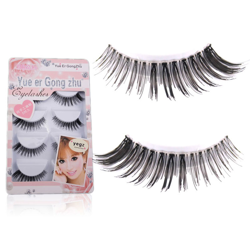 10Pair Black Cross Soft Reusable False Eyelashes Transparent Crisscross Natural Make Up Eyelash Extension Eyelashes For Building(China (Mainland))