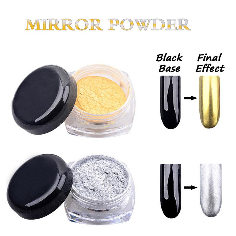 2g Magic Mirror Powder Gold Silver Pigment Nail Glitter Nail Art Chrome DIY Nail Decoration Tools