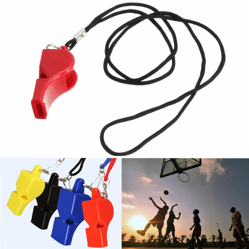 Classic Outdoor Sports Whistle With Lanyard For Football Referee Lifeguard For Football Basketball soccer Sports Games(China (Mainland))