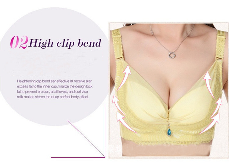 Sexy Women 3/4 cup Ultrathin Cup Push Up Plunge Bras with Heart Charm(China (Mainland))