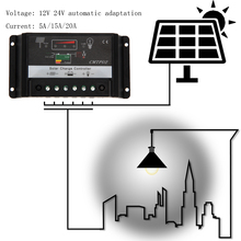 Buy PWM Charge Mode 5A 15A 20A Digital Solar Panel Battery Regulator Charge Controller Street Light Controller for $9.36 in AliExpress store