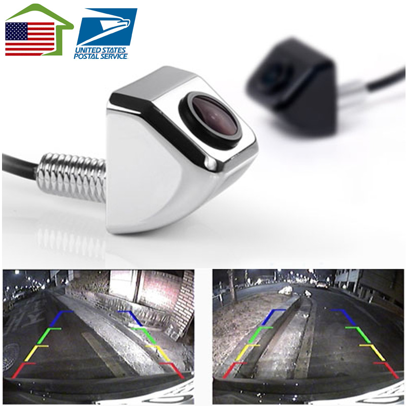 US stocks /HD CCD Waterproof Wire Car Rearview Rear View Color Night Camera Parking Reverse System /E366 E318(China (Mainland))