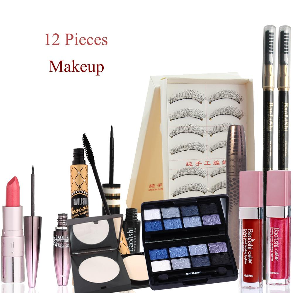 12 Pcs Get Started Makeup Sets Makeup Cosmetics Gift Set Makeup Brand Cosmetics-in Makeup Sets ...