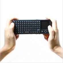 Ipazzport 2.4 г рф мини беспроводная клавиатура клавиатура сенсорная панель с из светодиодов свет Smart TV / PC пульт дистанционного управления teclado сем