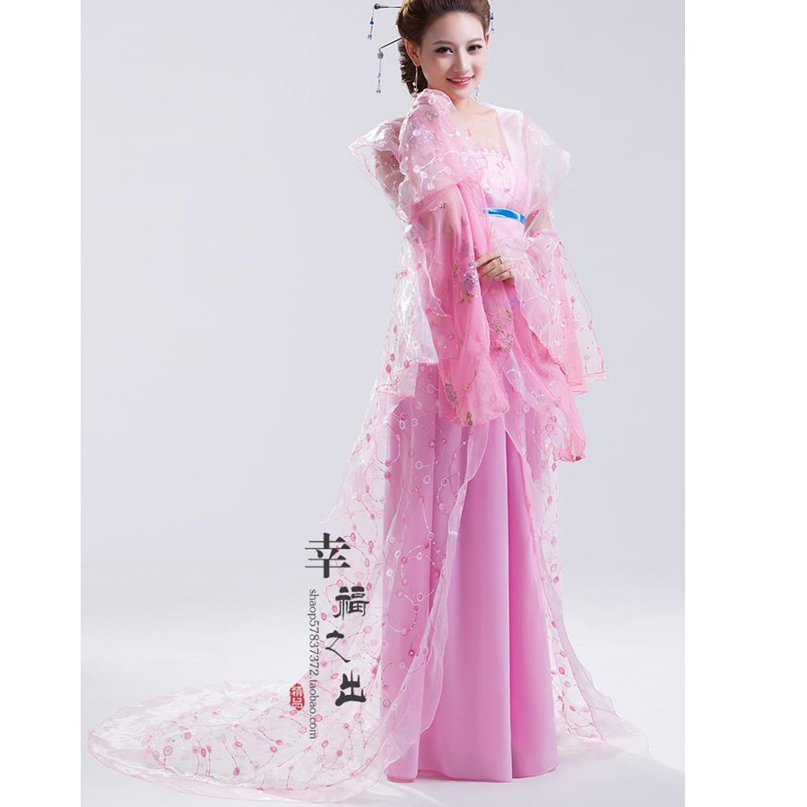 New design Chinese ancient style hanfu tang suit women's fairy princess stage clothes fancy dress folk dance costume(China (Mainland))