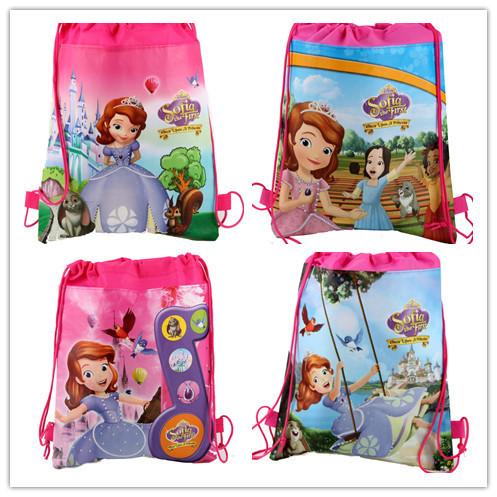 Продвижение миньоны гадкий я софия виолетта шнурок сумки школьные сумки для детей рюкзаки Mochila детей рождественские подарки