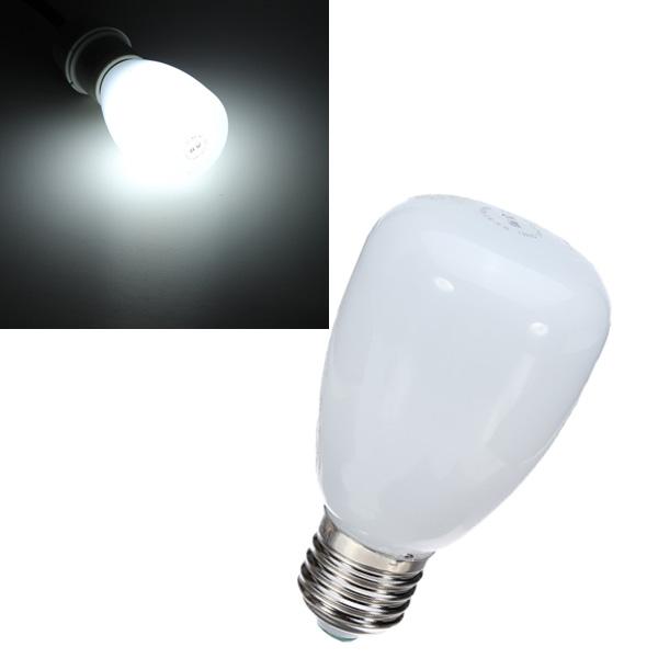 Hot Sale Big Promation High Quality E27 5W Pure White Ultra Highlight LED Globe Glass Cover Energy-Saving Light Bulb 220V(China (Mainland))
