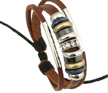 New Arrival Unisex Charm Bracelets Wood Beads  PU Leather Bangles Good Quality Hot Selling z293(China (Mainland))