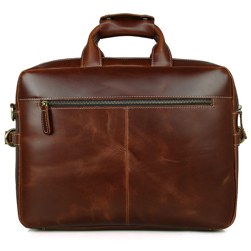 J.M.D J.M.D Guarantee Genuine Pull Up Leather Briefcase Bag Business Hand Laptop Bag 7085X