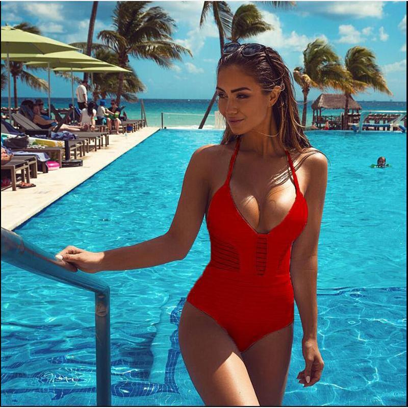 2017 sexy one piece women swimsuit backless bikini explosion models female summer beach swimwear bathing Maillot De Bain Femme(China (Mainland))
