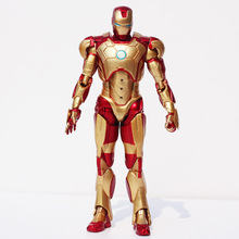 Buy 1Pcs 18CM Avengers Iron Man 3 Mark 42 PVC Action Figure Super Heroes Collection Model Toy Great Gift for $14.64 in AliExpress store