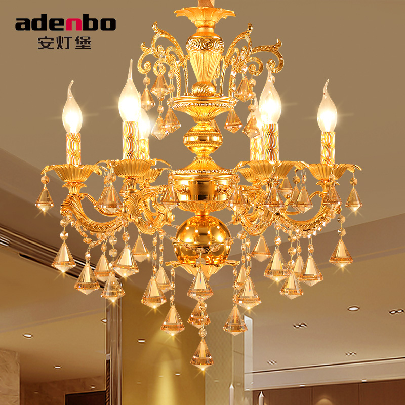 Modern Gold LED Chandelier Crystal Chandeliers Lustres Chandelier Lighting For Living Room With 6 Arms 8 Arms 18 Arms (ADB962)(China (Mainland))
