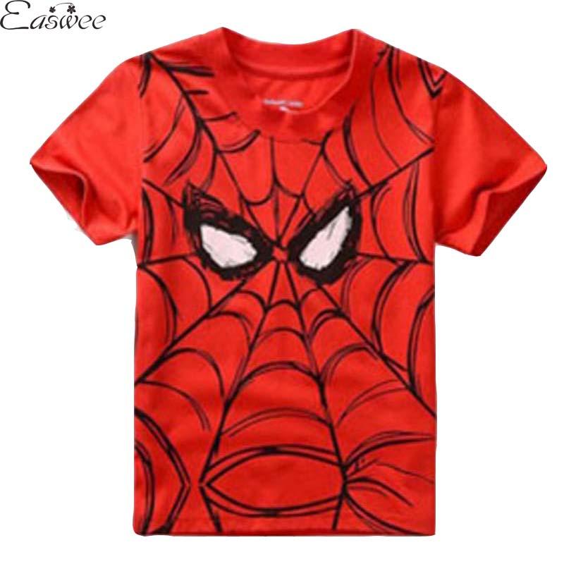 2015 Summer Spiderman T-shirt For Boy Short Sleeve Cartoon Superman Batman Children T Shirts Retail 1PC ZZ3021<br><br>Aliexpress