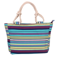 Fashion canvas bags for woman handbag big famous multicolor handbag