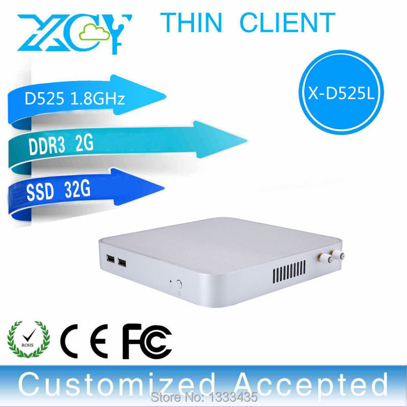 New Arrival! D525 Atom 2gb Ram 32gb Ssd With Wifi Embedded Computer Tablet Thin Client Mini Fanless Pc Support Linux(China (Mainland))