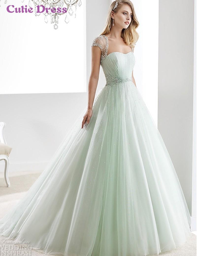Vestido de noiva light blue wedding dresses strapless for Wedding dress light blue