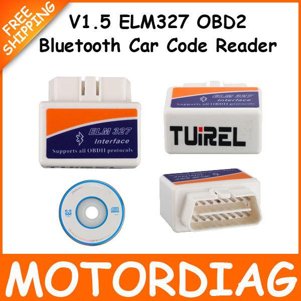 V1.5 Mini ELM327 Super Bluetooth OBD2 Adapter Car fault Detector ELM 327 Interface OBD 2 Auto Scanner Automotivo Escaner Carro(China (Mainland))