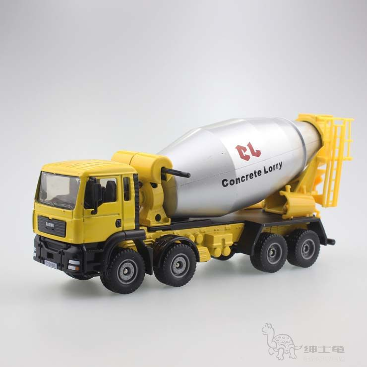 construction vehicles set cement concrete mixer truck inertia alloy canned car toys for children 09(China (Mainland))