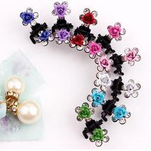 Buy 12 PC Crystal Flower Rose Hair Clip Mini Hair Accessories child girl hair ornaments cute rhinestone Hairpin baby Clamp Hair Clip for $2.28 in AliExpress store
