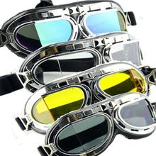 5 Colors Vintage Harley Sunglasses Steampunk Goggles Men Sport Sunglasses Women Men Mirrored  Steampunk Goggles Industrial