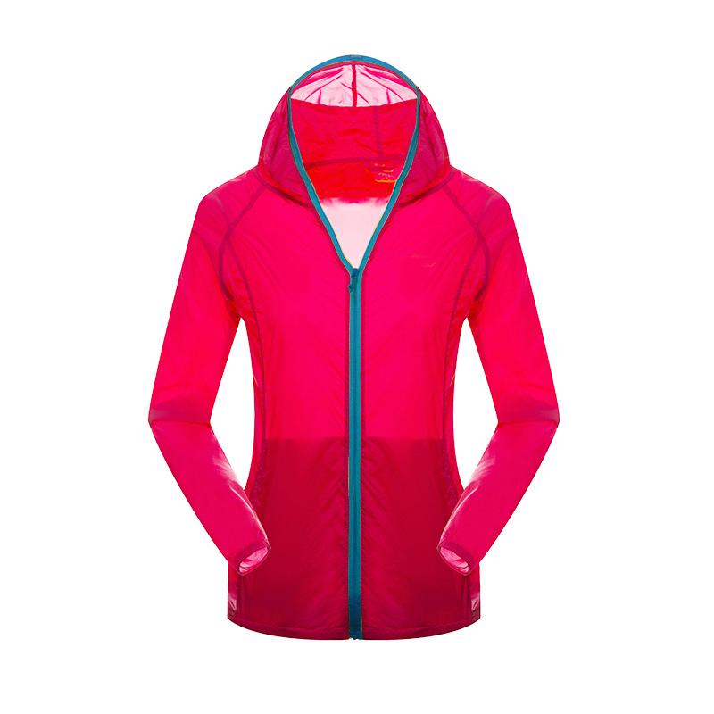 Women Hooded Coat Multi-Color Waterproof Coat Long Sleeve Sun Protect Transparent Jacket Beach Thin Outerwear Clothing(China (Mainland))