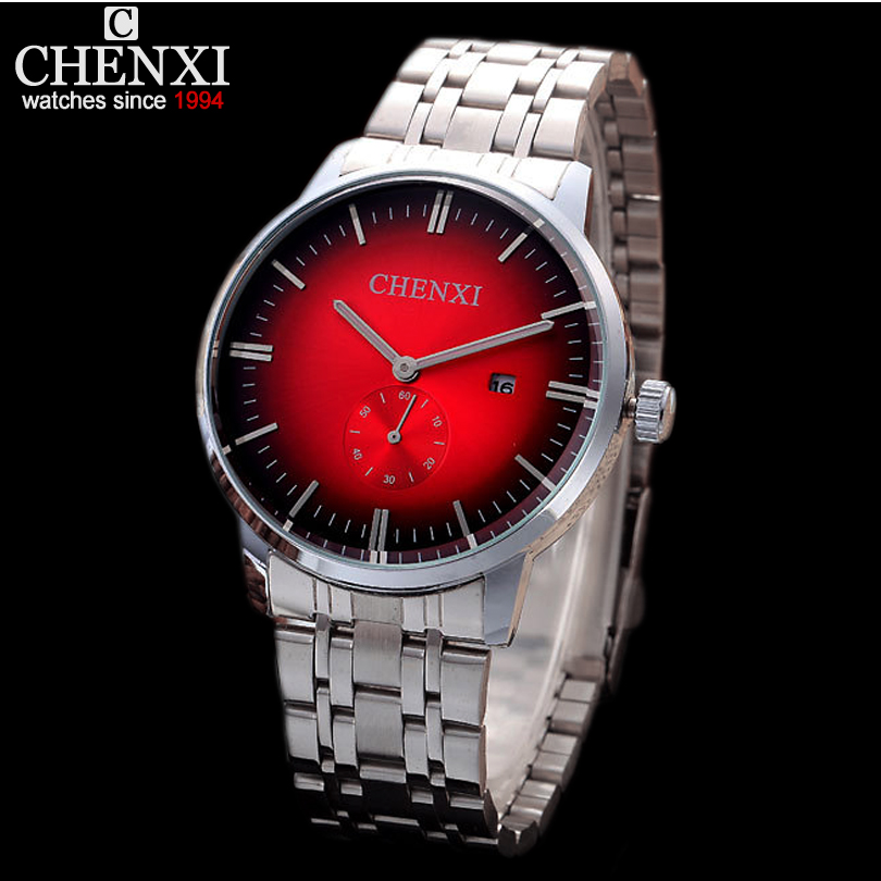 Small dial work Fashion Dynamic 3 Kinds Dial Color Choose From Casual Creative Full Steel quartz-watch Men Calendar Watches Mens(China (Mainland))
