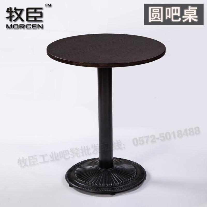 runde tische stehtische bar cafe holz einfachen holztisch und eisen bein gr. Black Bedroom Furniture Sets. Home Design Ideas