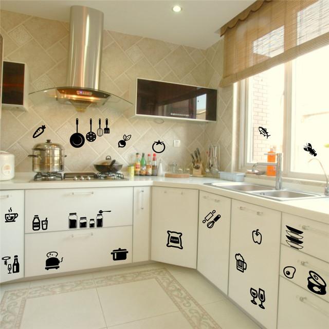 Кухонный инвентарь стикер украшения дома съемный этикета винила кухня цитата искусства домашнего декора