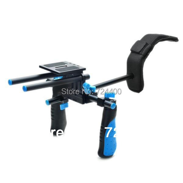 2014 Steadycam [drop Shipping] 15mm Dslr Rail Rod Support Shoulder Mount Rig Rl-02 for Hd Video Camera free Shipping 30200009