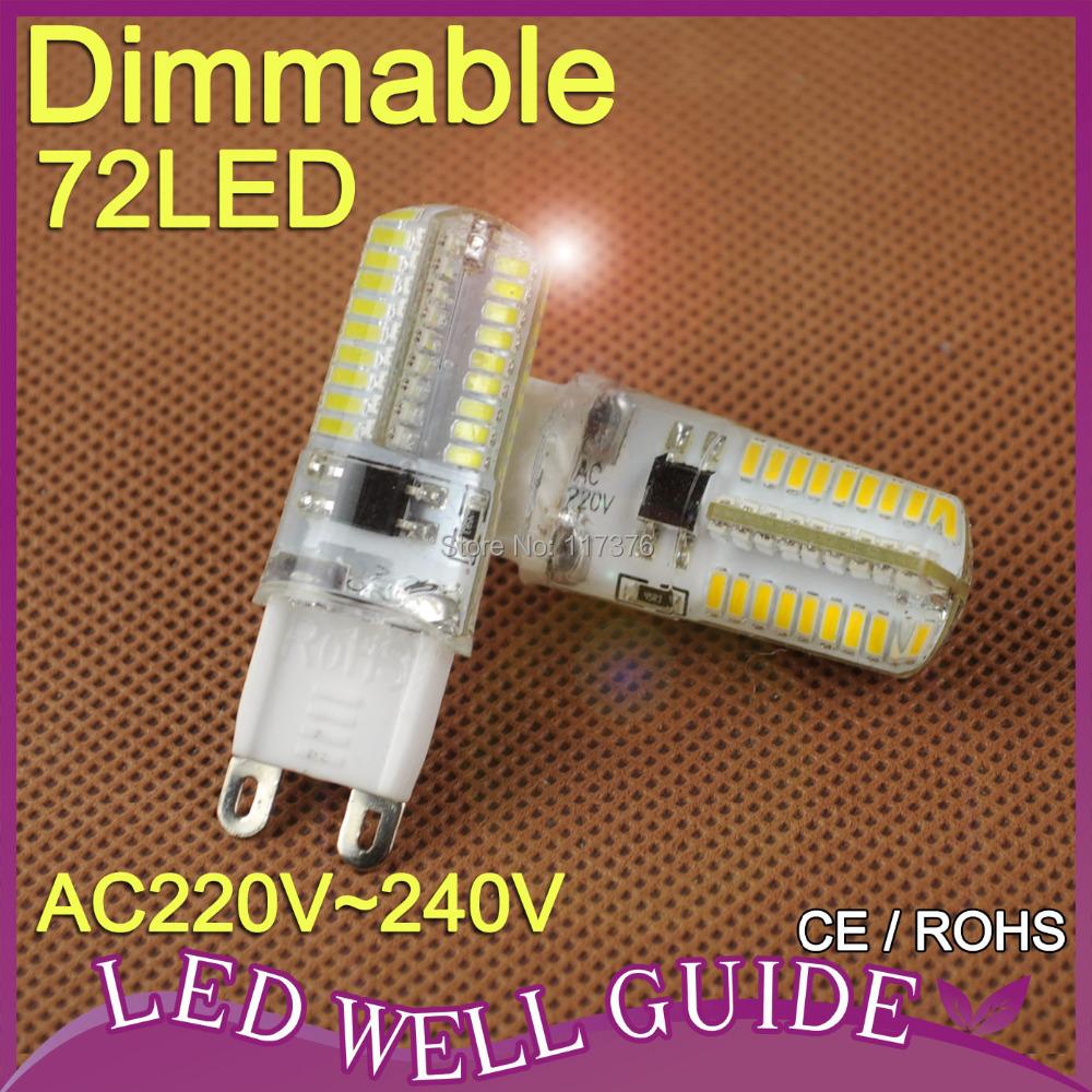 G9 led lamp 6W 9W 10W G9 Led bulb 7w dimmable SMD3014 SMD2835 220V electronic 2015 new 360 Beam Angle LED Bulb lamp(China (Mainland))