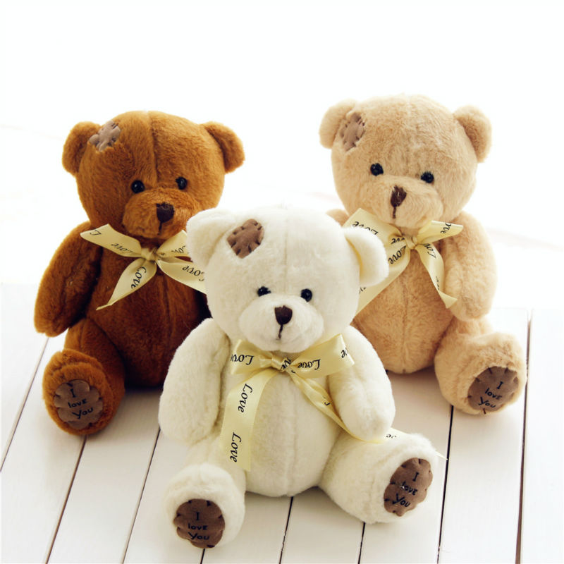 Wholesale 1000 pcs/lot Wedding gift patch teddy bear plush doll toys,play game prizes gifts for the childrens free shipping(China (Mainland))