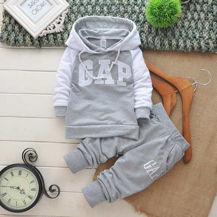 FOR 2 ~ 10 years Retail autumn 2015 boys girls baby brand set kids clothing children tracksuit lovely suit hoodie coat + pant(China (Mainland))