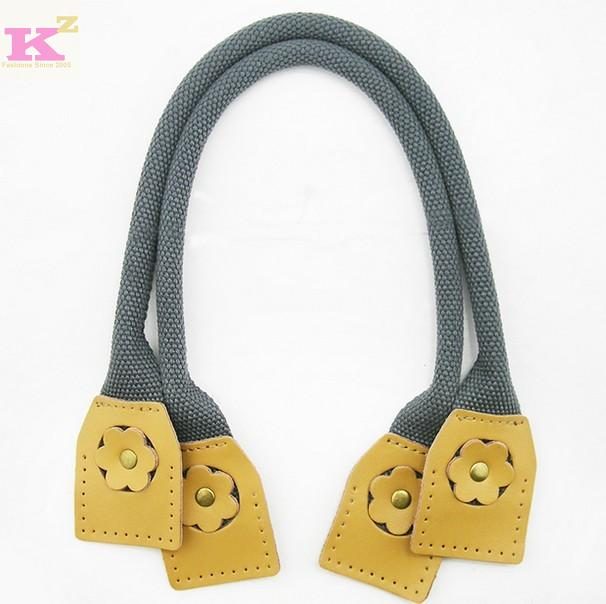 Bags diy accessories handmade cloth taping knopper handle genuine cowhide leather bag strap(China (Mainland))